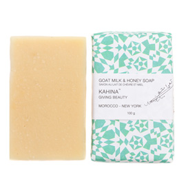 Kahina Goat Milk & Honey Argan Soap | Kahina Giving Beauty | b-glowing