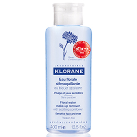 Floral Water Make-Up Remover wtih Soothing Cornflower - 400 ml | Klorane | b-glowing