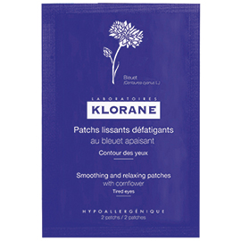 Smoothing and Relaxing Patches with Soothing Cornflower | Klorane | b-glowing