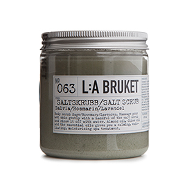 No.63 Salt Scrub Sage/Rosemary/Lavender | L:A Bruket | b-glowing