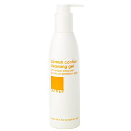 blemish control cleansing gel | LATHER | b-glowing