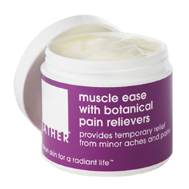 muscle ease with botanical pain relievers | LATHER | b-glowing