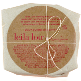Leila Lou Body Scrub | By Rosie Jane | b-glowing