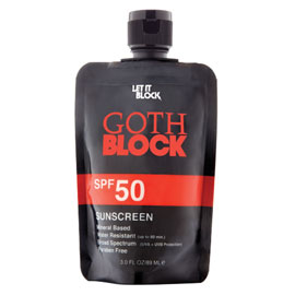 GOTH BLOCK SPF 50 | Let It Block | b-glowing