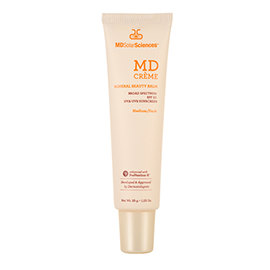 MD Crème Mineral Beauty Balm Broad Spectrum SPF 50 | MDSolarSciences | b-glowing