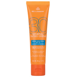 Mineral Tinted Crème Broad Spectrum SPF 30 UVA-UVB Sunscreen | MDSolarSciences | b-glowing