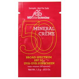 Mineral Crème Broad Spectrum SPF 50 UVA-UVB Sunscreen Sample