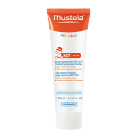 Broad Spectrum SPF 50 Sun Lotion | Mustela | b-glowing