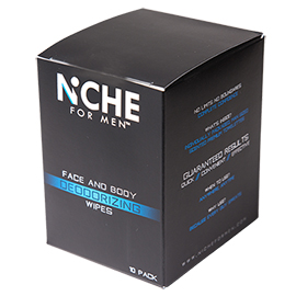 Face and Body Deodorizing Wipes | Niche For Men | b-glowing