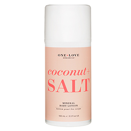 Coconut + Salt Mineral Body Lotion | One Love Organics | b-glowing