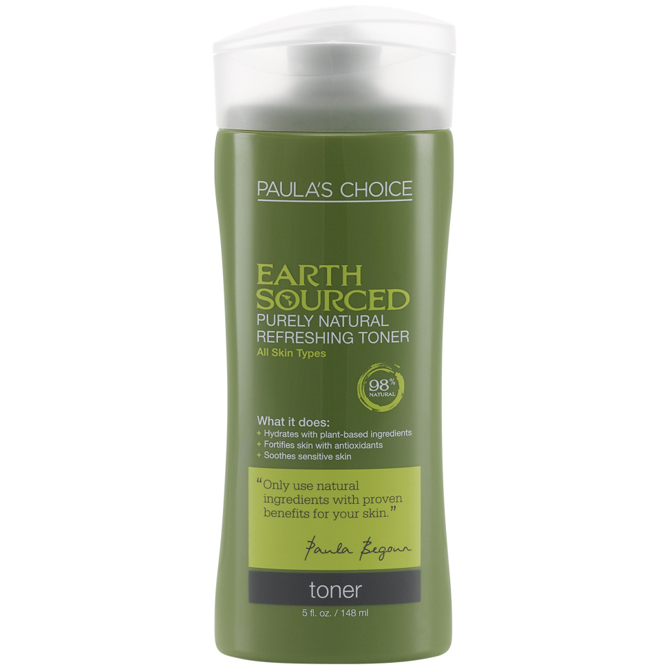 Earth Sourced Purely Natural Gentle Toner for Sensitive Skin