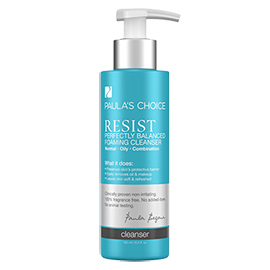 RESIST Perfectly Balanced Foaming Cleanser | Paula's Choice | b-glowing