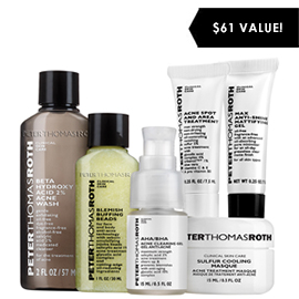 6-Piece Acne Kit | Peter Thomas Roth | b-glowing