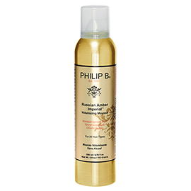 Russian Amber Imperial Volumizing Mousse | Philip B. | b-glowing