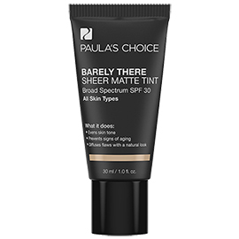 Barely There Sheer Matte Tint SPF 30 | Paula's Choice | b-glowing