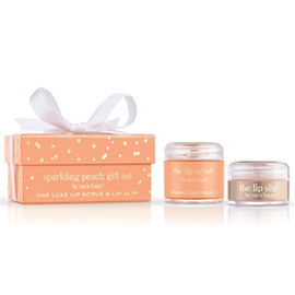 The Gift Set: Sparkling Peach Lip Scrub & Lip Slip