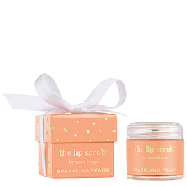 Sparkling Peach Lip Scrub | Sara Happ | b-glowing