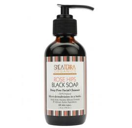 Rose Hips Black Soap Deep Pore Facial Wash & Mask