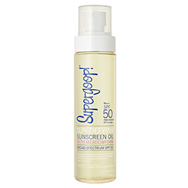 Sun-Defying Sunscreen Oil SPF 50 | Supergoop! | b-glowing