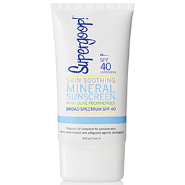 SPF 40 Skin Soothing Mineral Sunscreen with Olive Polyphenols - 2.4 oz | Supergoop! | b-glowing