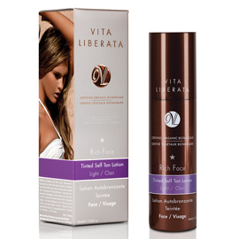 Rich Face Tinted Self Tan Lotion - Light | Vita Liberata | b-glowing