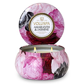 Amaranth & Jasmine 2 Wick Maison Metallo Candle | Voluspa | b-glowing