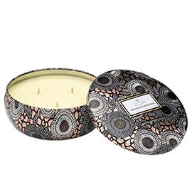 Yashioka Gardenia - 3 Wick Candle in Decorative Tin | Voluspa | b-glowing