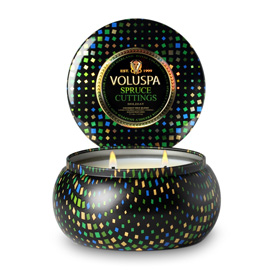 Spruce Cuttings - 2 Wick Maison Metallo Candle