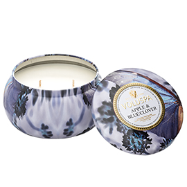 Apple & Blue Clover - 2 Wick Maison Metallo Candle | Voluspa | b-glowing