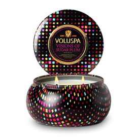 Visions of Sugar Plum - 2 Wick Maison Metallo Candle