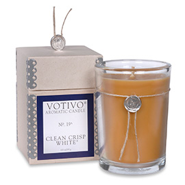 Aromatic Clean Crisp White Candle