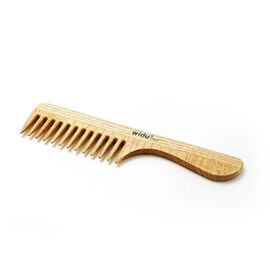 Wooden Wide Tooth Comb with Handle