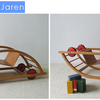 Cool rocking chair that flips over to become a toy racecar