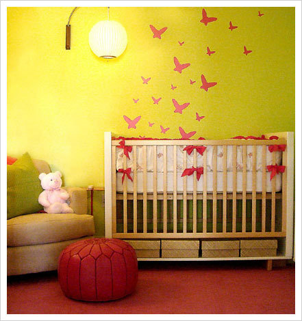 Yellow Themed Nursery Design
