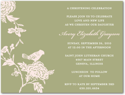 Naming Ceremony - Invitations