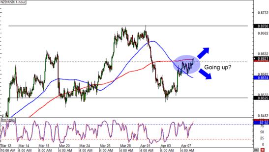 NZD/USD: 1-Hour Forex Chart