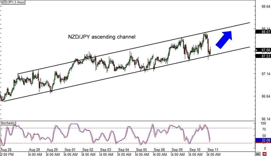NZD/JPY 1-hour Forex ChartNZD/JPY 1-hour Forex Chart