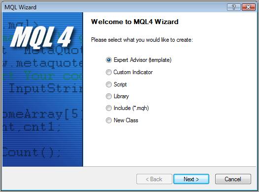 MQL4 Wizard