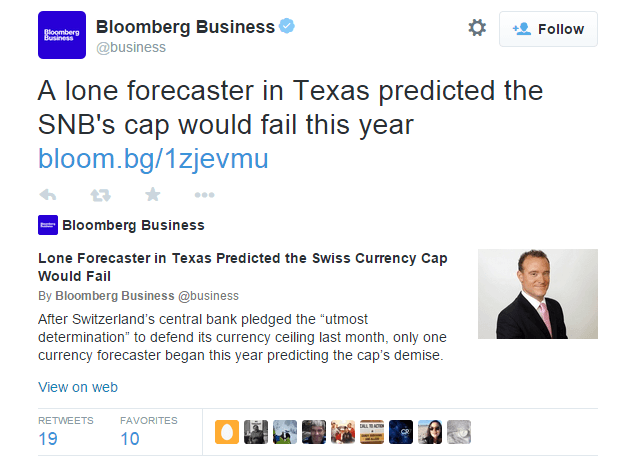 A lone forecaster in Texas predicted the SNB's cap would fail this year - @business