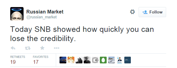 Today SNB showed how quickly you can lose the credibility. - @russian_market
