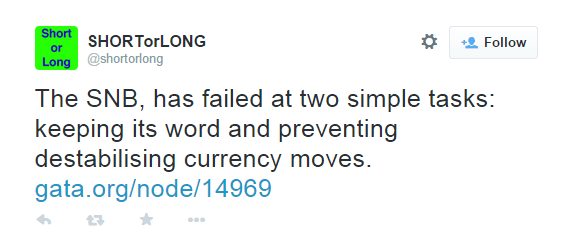 The SNB, has failed at two simple tasks: keeping its word and preventing destabilising currency moves. - @shortorlong
