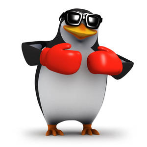 boxing penguin