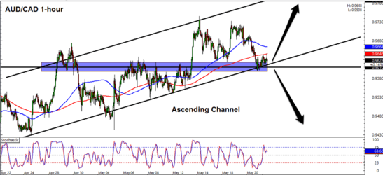 AUD/CAD 1 Hour Forex Chart
