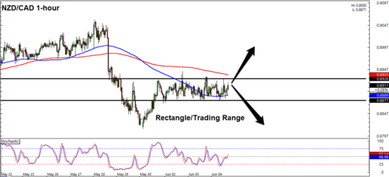NZD/CAD 1 Hour Forex Chart