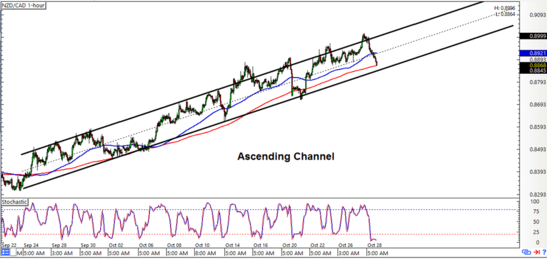 NZDCAD 1-hour Forex Chart