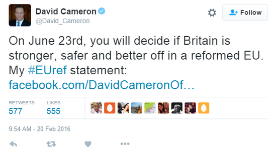 Cameron: Brexit Referendum
