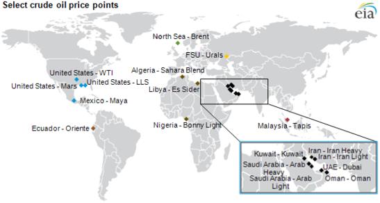 Crude Oil Locations