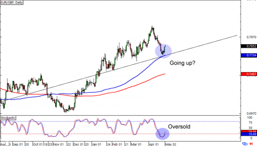 EUR/GBP: Daily Forex Chart