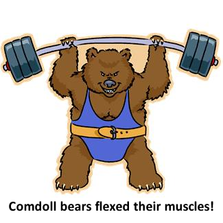 Comdoll Bears Flexed Their Muscles