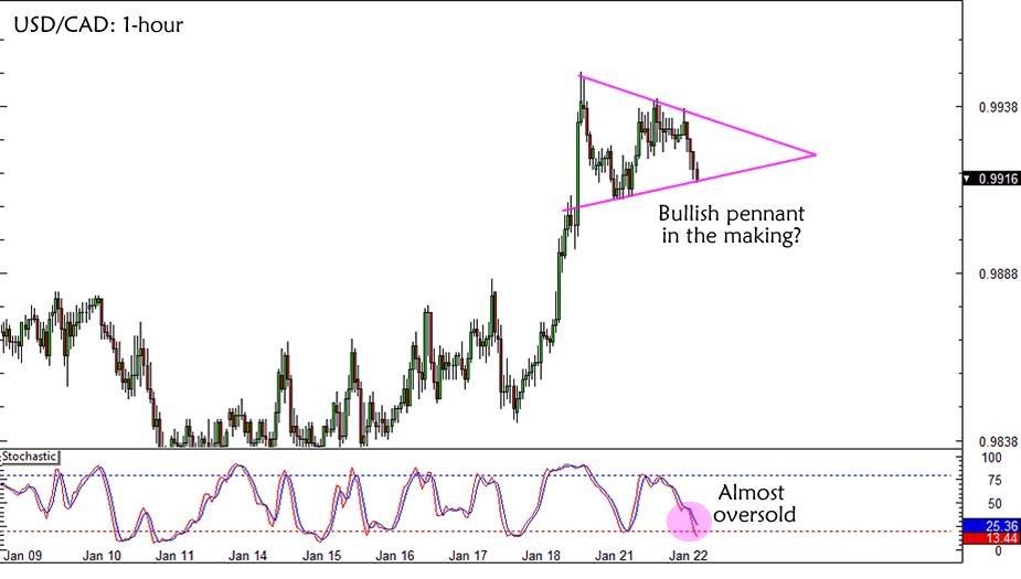 USD/CAD Bullish Pennant